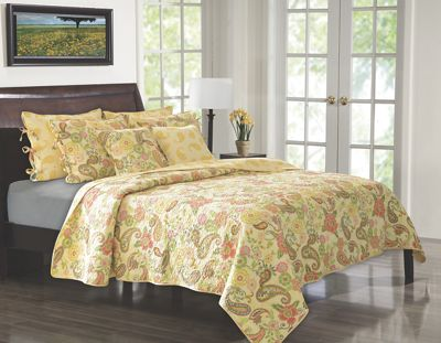 Sunset Paisley Quilt Set and Throw