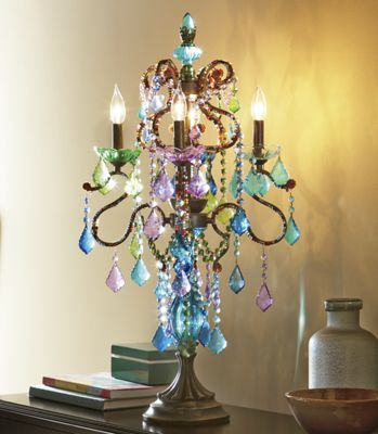 Bright crystal table lamp