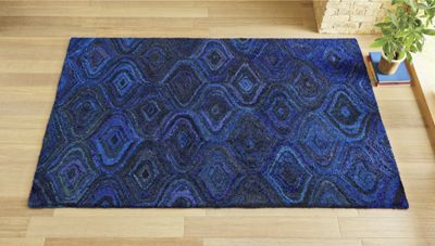 Sapphire Waves Rug