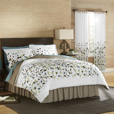 New Leaf Comforter Set and Panel Pair