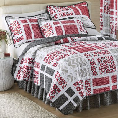 Bridgeport Quilt, Bedskirt, Sham and Panel Pair