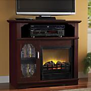 media storage electric fireplace
