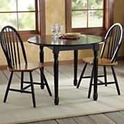 Farmhouse Drop-Leaf Table & Arrowback Chairs