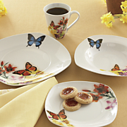 16 pc butterfly dinnerware set