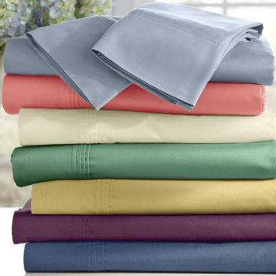 Ginny's Brand 300-Thread Count Cotton Percale Sheet Set