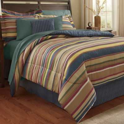 Wingate Stripe Comforter & Window Treatments