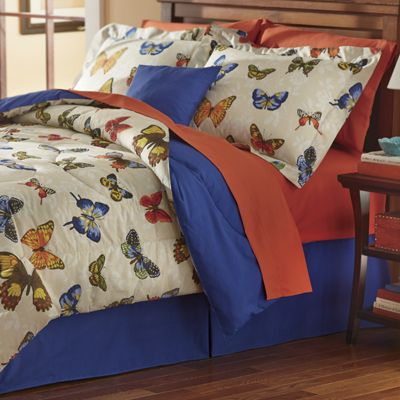 Butterfly Paradise Comforter Set, Decorative Pillow and Window Treatments