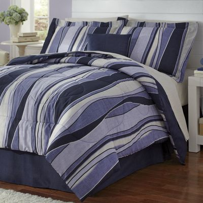 Marcus Complete Bed Set, Decorative Pillow and Window Treatments