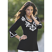jenna embroidered tunic