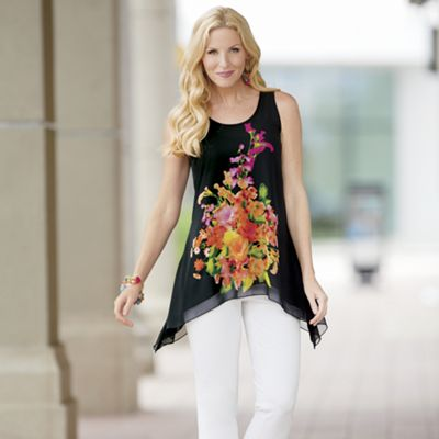 Placement Floral Tunic