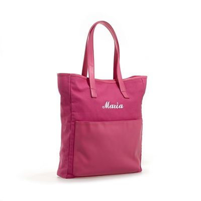Personalized Front Pocket Canvas Tote