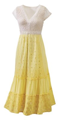 Sunshine Floral Eyelet Dress