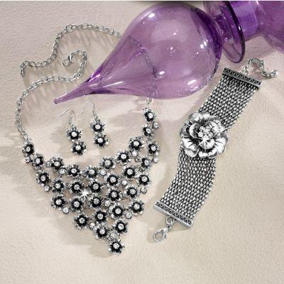 3-D Crystal Flower Jewelry