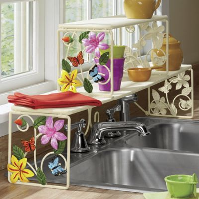 Butterfly Over The Sink Shelf From Ginny S J9720016