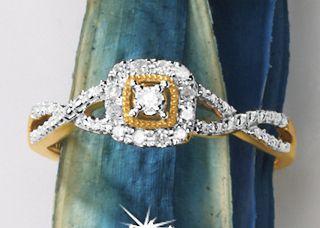 Diamond Square-Frame Ring
