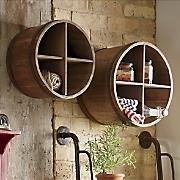 Set of 2 Barrel Cubbies