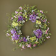 hydrangea mix wreath