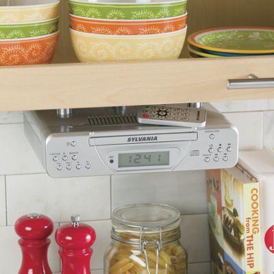 Under-Cabinet CD Clock Radio by Sylvania