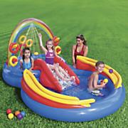 rainbow ring play center by intex