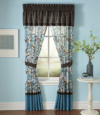 Cecilia Teal Window Treatments