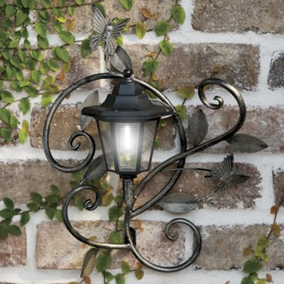 Solar led lantern light with butterflies from seventh avenue 720684