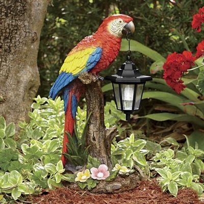 Solar Parrot W/Lantern