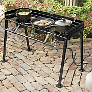 Portable Propane Triple Burner Outdoor Cooker
