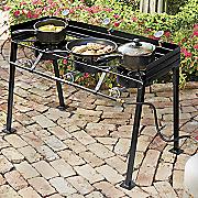 Portable Propane Triple Burner Outdoor Cooker