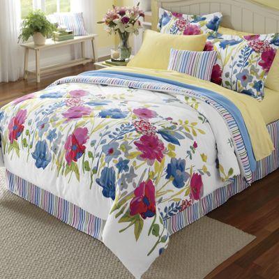 Ginny's Brand Garden Floral Comforter Set & Window Treatments