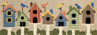 Hand-Tufted Birdhouse Mat and Runner