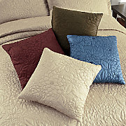 Gardenia Quilted Decorative Pillow