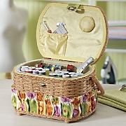 42-Piece Sewing Basket