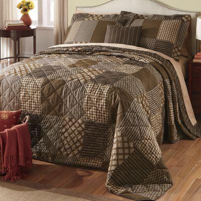 Ellington Brown Bedspread, Decorative Pillow and Window Treatments