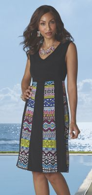 Jamila Abstract Print Dress