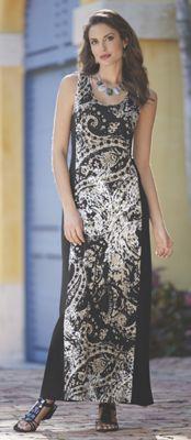 Jayla Print Inset Maxi Dress