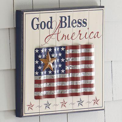 Patriotic Wall Plaque