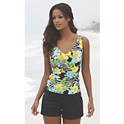 Jungle Faux Tank/Short 1-Piece