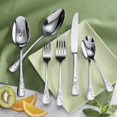 42-Piece Serif Flatware Set by Oneida