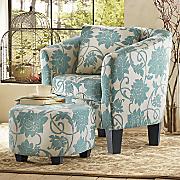 Crestview Accent Chair & Ottoman