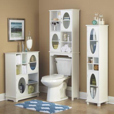 Oval Windows Bathroom Storage