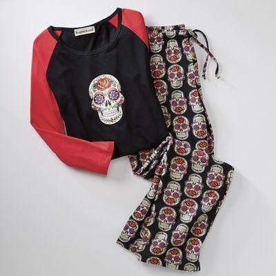 Skulls 'N Roses PJ Set