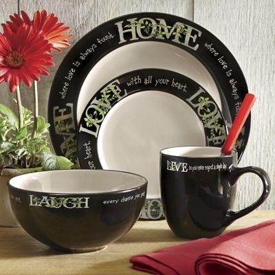 16-Piece Live Laugh Love Home Dinnerware Set & 16-Piece Live Laugh Love Home Dinnerware Set from Seventh Avenue ...