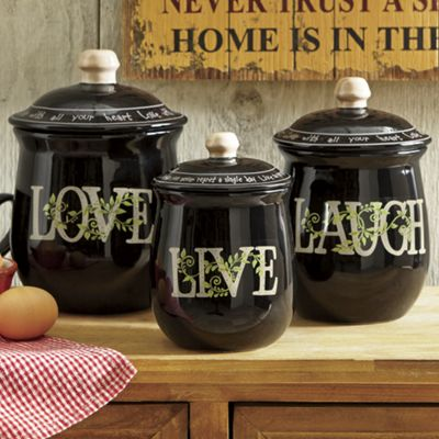 3-Piece Live Laugh Love Canister Set