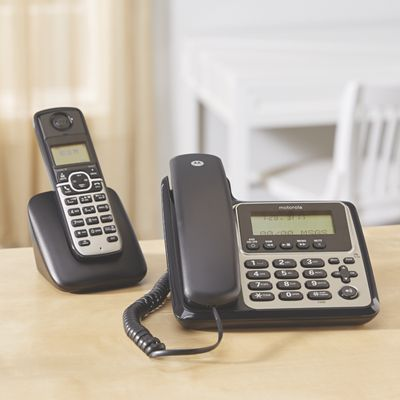 Large Display Corded/Cordless 2 Phone System by Motorola