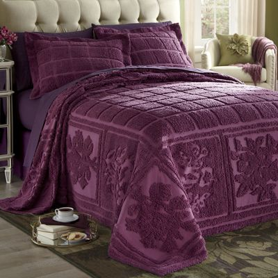 Mosaic Chenille Bedspread and Sham
