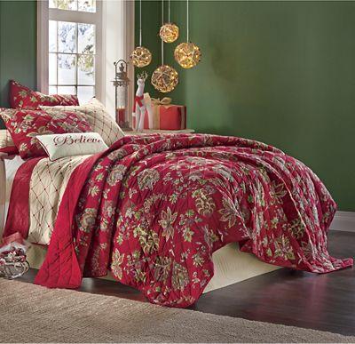 Red Floral Cotton Quilt