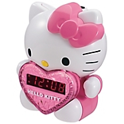 Hello Kitty AM/FM Projection Clock Radio with Battery Backup and Alarm