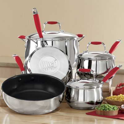 Chef Tested 8 Piece Stainless Steel Cookware Set With