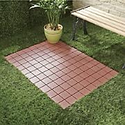 Set of 12 Interlocking Patio Tiles