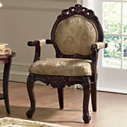 "Hand-Carved ""Flora"" Accent Chair"